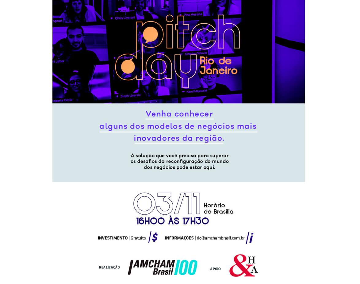 AMCHAM Arena | Pitch Day Regional de RJ, con el equipo de H&A Brasil actuando como jurado
