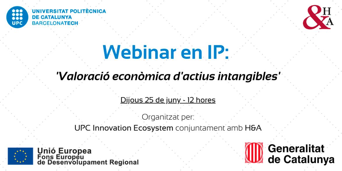 Charla de H&A en la UPC Innovation Ecosystems sobre Valoración de Intangibles